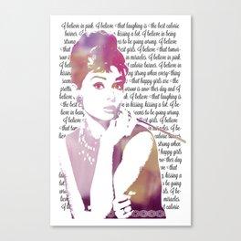 My Audrey Canvas Print