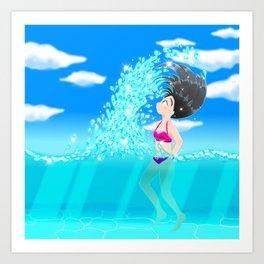Beach Splash Art Print