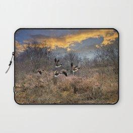 Sunset Geese Landscape Laptop Sleeve