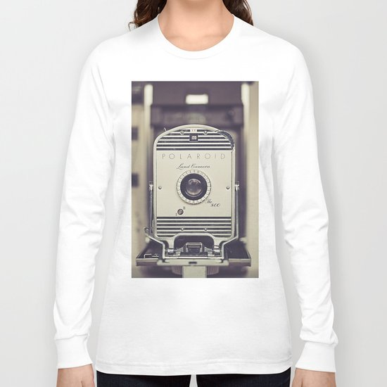 Vintage Polaroid Land Camera The 800 Long Sleeve T-shirt