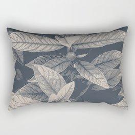 Big blue tropical leaves. Rectangular Pillow