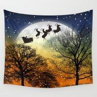 santa Wall Tapestries featuring Santa Claus by Cs025