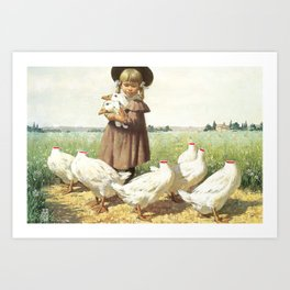 Collecting Their Thoughts Art Print