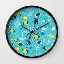 Deep Blue Sea Aqua Wall Clock