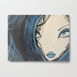 My Mermaid. Original Painting by Jodilynpaintings. Figurative Abstract Pop Art. Metal Print