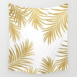 Gold Palm Leaves Vibes #1 #shiny #tropical #decor #art #society6 Wall Tapestry