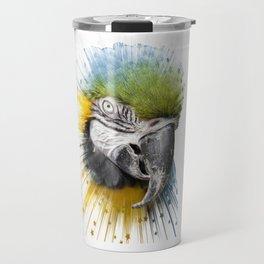 parrot bird star burst Travel Mug