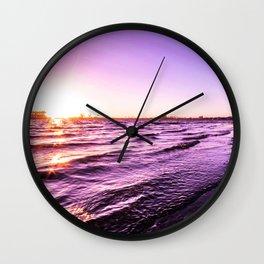 Mission Bay Riverboat Sunset in San Deigo, California Wall Clock