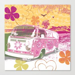 girl camper Canvas Print
