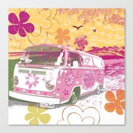 girl camper Canvas Print
