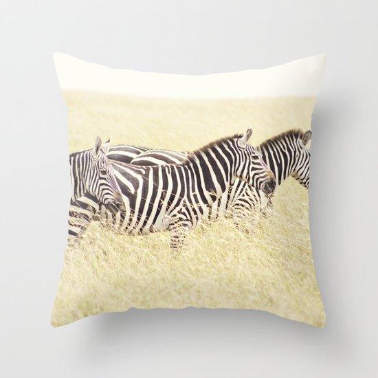 trois::kenya Throw Pillow