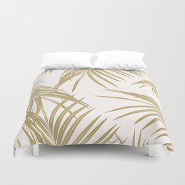 Gold Palm Leaves Dream #1 #tropical #decor #art #society6 Duvet Cover