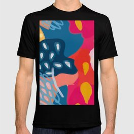 Abstract Bright Coral Seascape  T-shirt