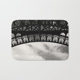Black Lace of Eiffel Tower Bath Mat