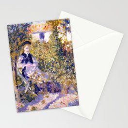 Nini in the Garden by Renoir Stationery Cards