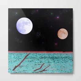 Under An Alien Moon Metal Print