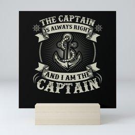 Captain Skipper Sailing Sailor Yacht Mini Art Print