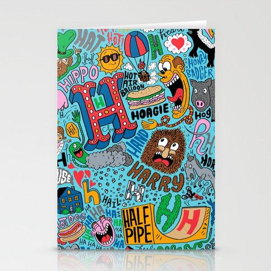 H Pattern Stationery Cards