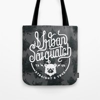 sasquatch Tote Bags featuring Urban Sasquatch Logo by Urban Sasquatch