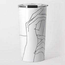 Hands line drawing illustration - Eva Travel Mug