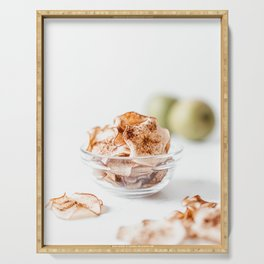 Apple Cinnamon Crispy Chips, Food Photography Print, Kitchen Print, Restaurant Cuisine Art Print Serving Tray