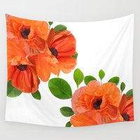 poppies Wall Tapestries featuring Poppies by Heaven7