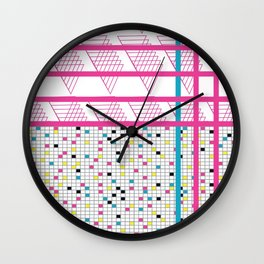 Retro 90s 80s Abstact Memphis Pattern Wall Clock