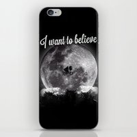 i want to believe iPhone & iPod Skins featuring I want to believe by Javier Pizarro
