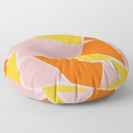 Abstract mosaic pink and yellow Floor Pillow