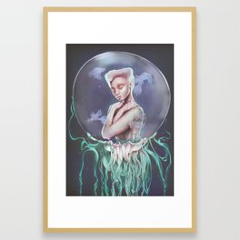 To Swim Framed Art Print