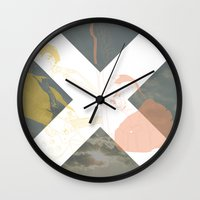 the xx Wall Clocks featuring XX by Itxaso Beistegui Illustrations