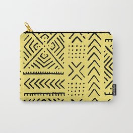 Line Mud Cloth // Yellow Carry-All Pouch