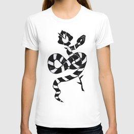 Snake & flower T-shirt
