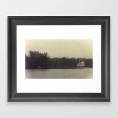 November Lake Framed Art Print