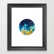 Abstract planet Framed Art Print