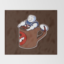 Cup of Stay Puft Throw Blanket