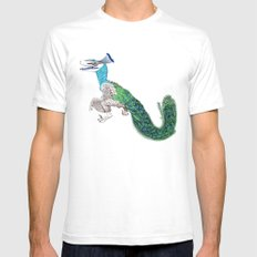 Peaciraptor White Mens Fitted Tee SMALL