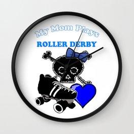 My Mom Plays Roller Derby (Girl) Wall Clock