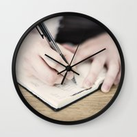 write Wall Clocks featuring WRITE by Marte Stromme
