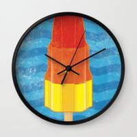 rocket Wall Clocks featuring Rocket by Nicholas Darby