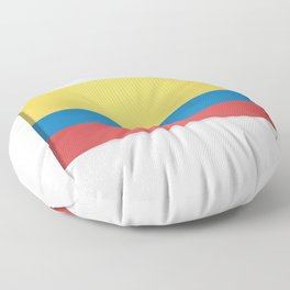 Flag of Colombia. The slit in the paper with shadows. Floor Pillow