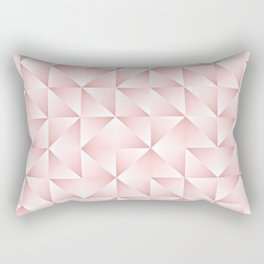 Chic Funky Retro Abstract Pastel Pink Triangles Pattern Rectangular Pillow