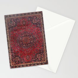 Old Century Persia Authentic Colorful Purple Blue Red Star Blooms Vintage Rug Pattern Stationery Cards