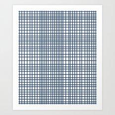 Weave Navy Art Print