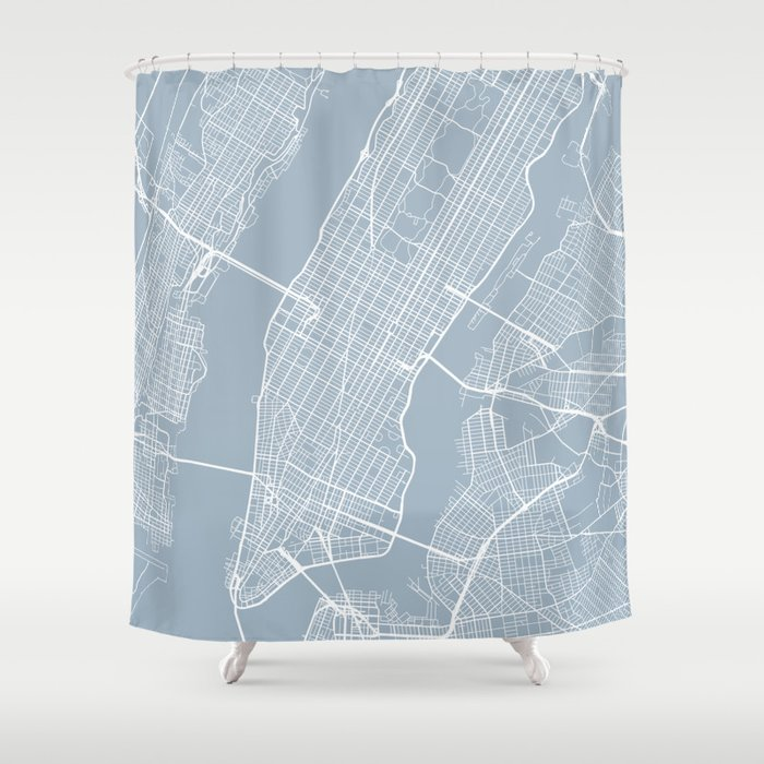 New York City Map Usa Slate Shower Curtain By Mainstreetmapscolor Society6