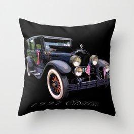 1927 Caddie Throw Pillow