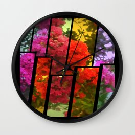 Crape Myrtle Tinted 2 Wall Clock