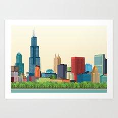 City Chicago Art Print