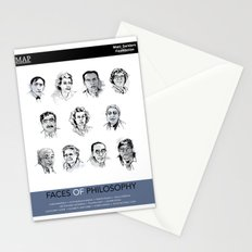 MAP Faces of Philosophy Poster Stationery Cards