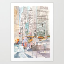 Reflection in the New York City windows II Art Print